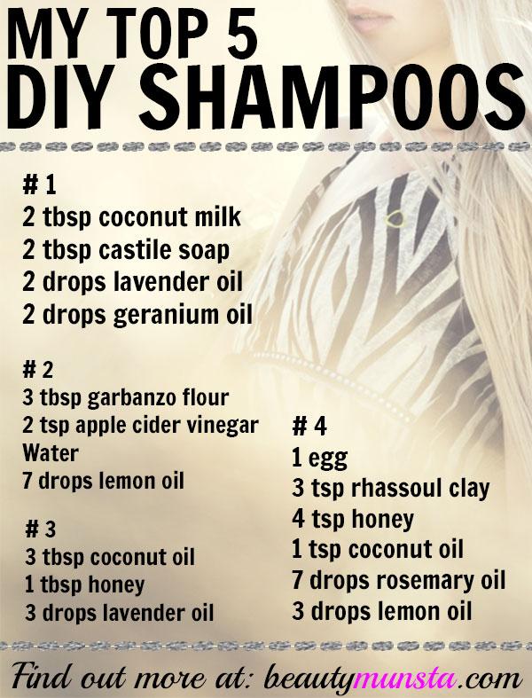 diy natural shampoo recipes