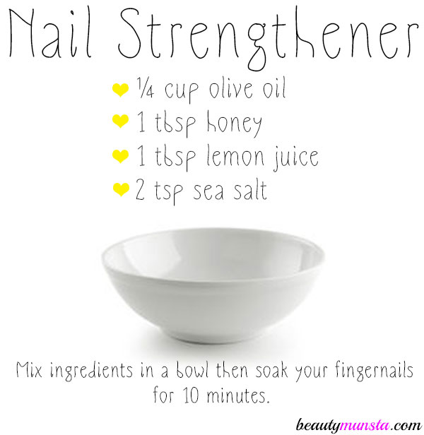 DIY Nail Strengthener for Strong, Healthy & Shiny Nails - beautymunsta