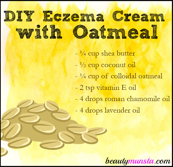 DIY Eczema Cream with Oatmeal - beautymunsta