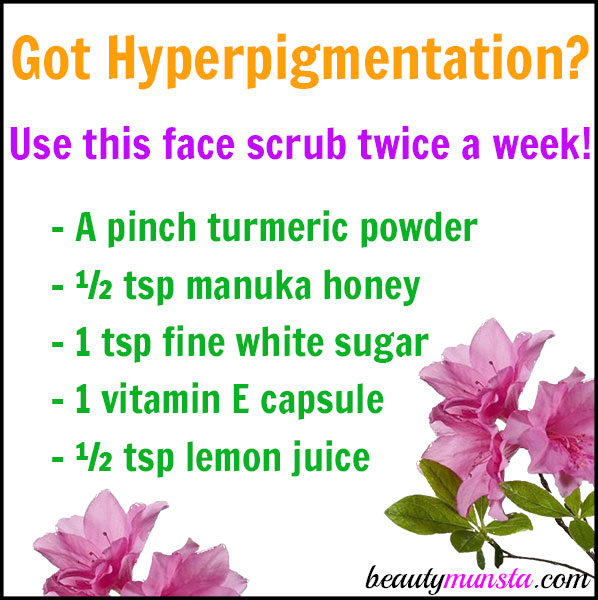 You can even your skin tone and get rid of hyperpigmentation using this DIY hyperpigmentation scrub!