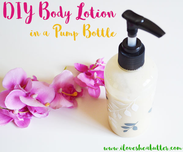 Learn how to make a DIY pumpable homemade body lotion right at home! It's actually easy