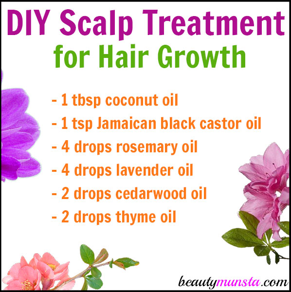 Diy Scalp Treatment For Hair Growth Beautymunsta Free
