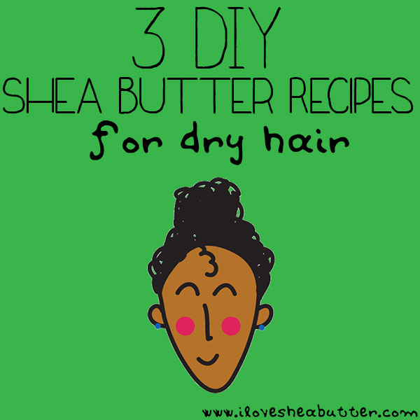 Looking to moisturize your hair? Try any of these 3 shea butter recipes for dry hair!