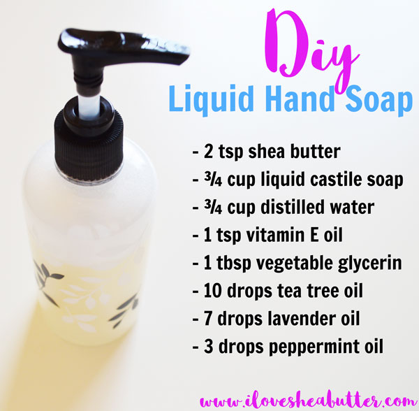 DIY Shea Butter Liquid Soap Recipe