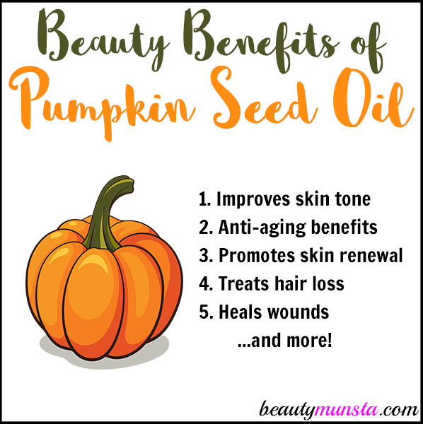 Discover 8 beauty benefits of pumpkin seed oil for skin and hair!