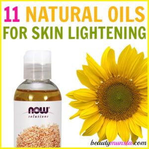 11 Carrier Oils for Skin Lightening, Skin Brightening