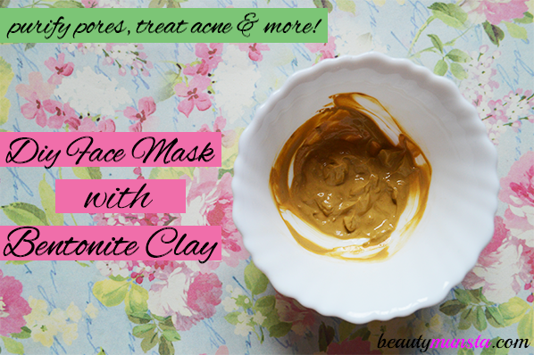 Make a DIY bentonite clay face mask for acne!
