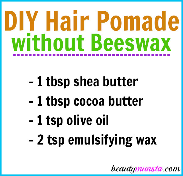 DIY Hair Pomade without Beeswax
