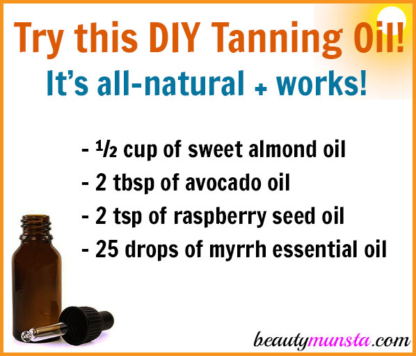 Try this DIY tanning oil! It's all natural plus it works!