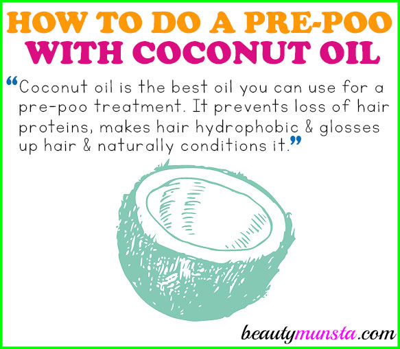 Learn how to do a coconut oil pre poo for silky soft and luscious locks!