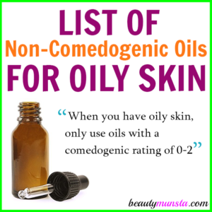 List of Non-Comedogenic Oils for Oily Skin