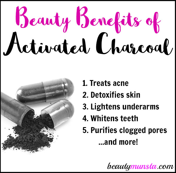 Get to known 12 amazing beauty benefits of activated charcoal for skin, hair and more