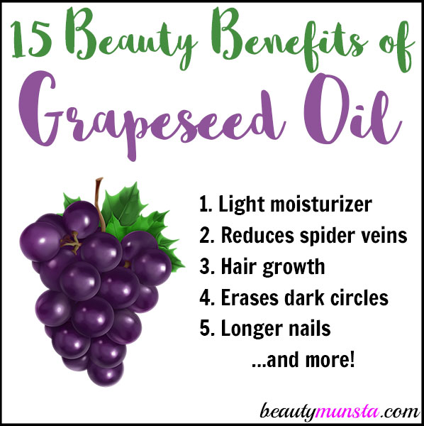 15 Beauty Benefits Of Grapeseed Oil For Skin Hair Amp More