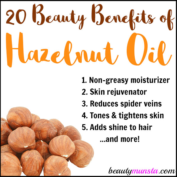 Discover 20 beauty benefits of hazelnut oil for skin and hair!