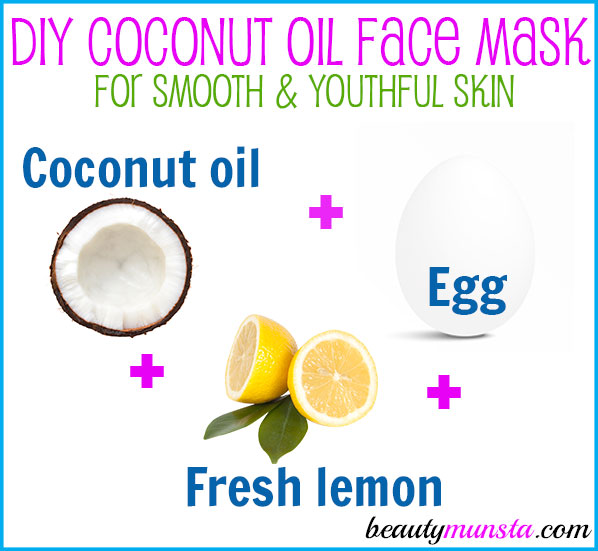 Prettify your skin by making this DIY coconut oil and egg face mask right at home!