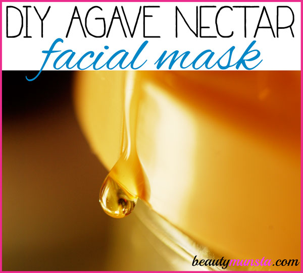 DIY agave nectar face mask for bright clear skin!