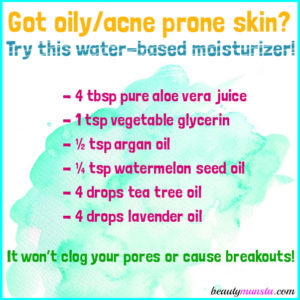 DIY Aloe Vera Juice Moisturizer for Facial Skin