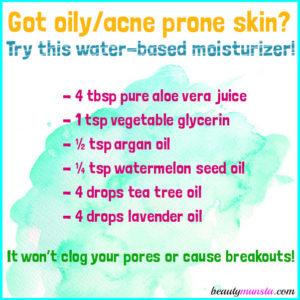 DIY Aloe Vera Juice Moisturizer for Facial Skin