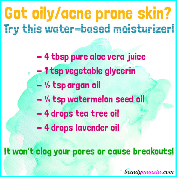 Make a DIY aloe vera juice moisturizer for your oily/acne prone facial skin