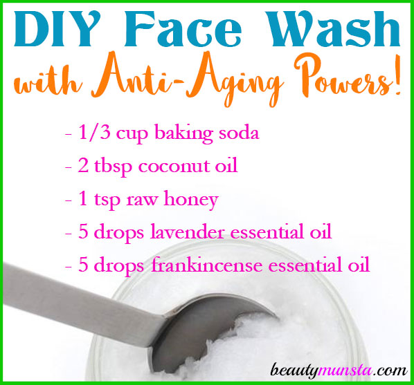 Here's an amazing DIY anti-aging face wash recipe!
