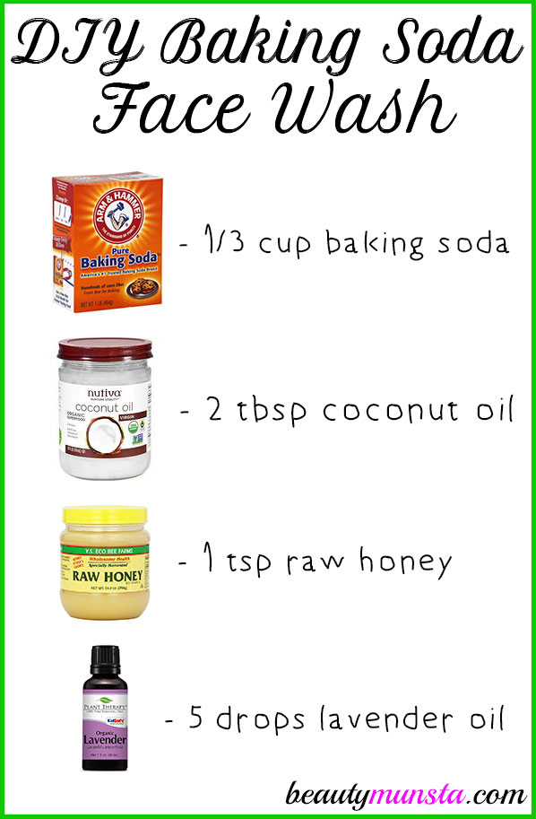 Make a DIY baking soda face wash for clear smooth skin!