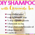 Soothing DIY Chamomile Shampoo | Recipe with Chamomile Tea