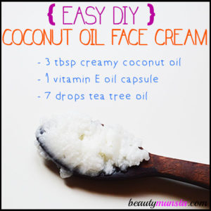 DIY Coconut Oil Face Cream Recipe | Non-Greasy & Only 3 Ingredients
