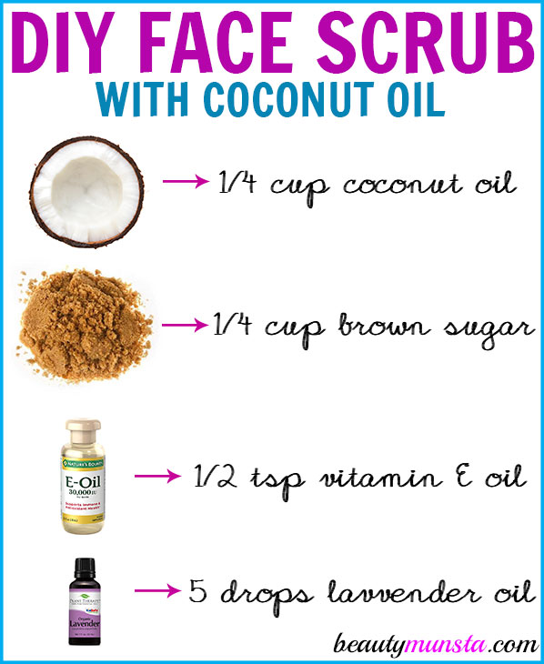 Gently exfoliate your skin using this DIY coconut oil face scrub! It will leave your skin looking smooth and glowing!