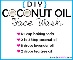 DIY Coconut Oil Face Wash