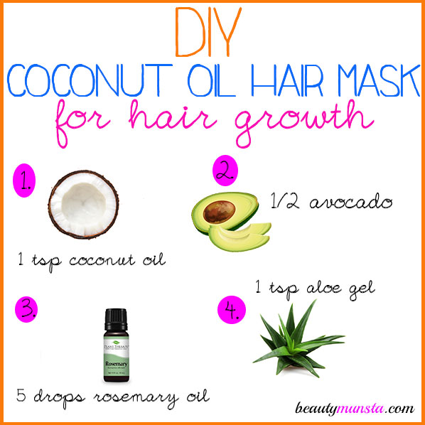 Coconut oil is splendid for your hair! Learn how to make a DIY coconut oil hair mask for hair growth & more!