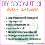 DIY Coconut Oil Hair Serum for Dry Damaged Hair