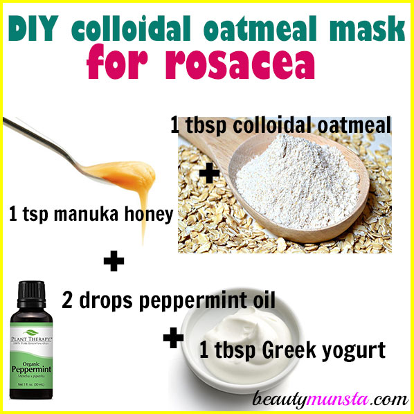 Diy Colloidal Oatmeal Mask For Rosacea Beautymunsta Free Natural