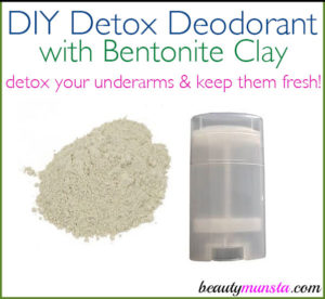 DIY Deodorant with Bentonite Clay