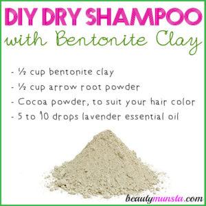 DIY Dry Shampoo with Bentonite Clay