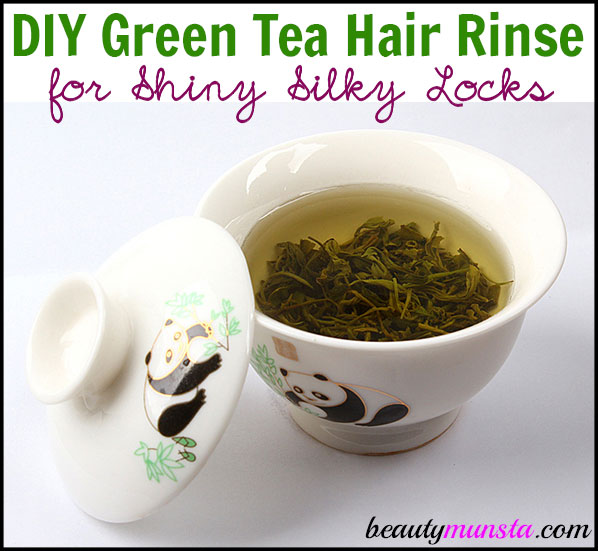 Make this DIY green tea hair rinse for shiny, silky and luscious locks of hair!