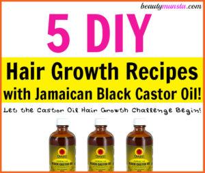 5 DIY Jamaican Black Castor Oil Hair Growth Recipes