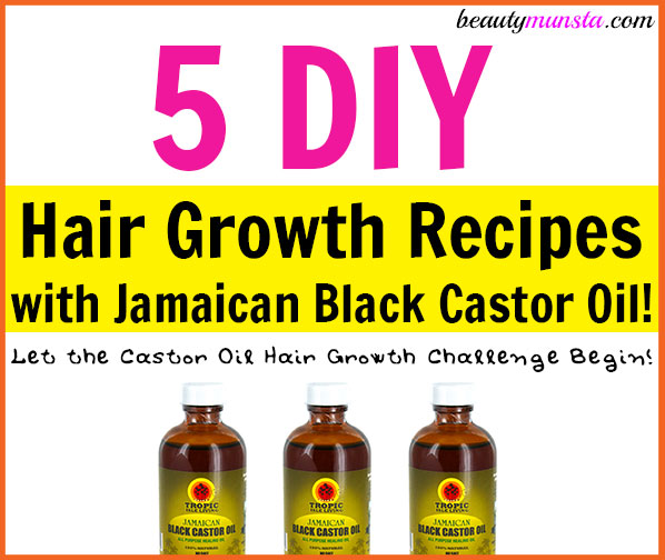 Here are 5 DIY Jamaican Black Castor Oil Hair Growth Recipes! Begin your castor oil hair growth challenge NOW!
