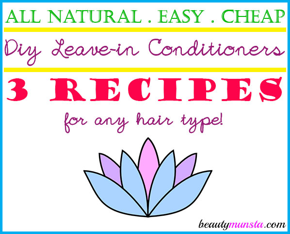 Find 3 DIY leave-in conditioner recipes for all hair types in this post!