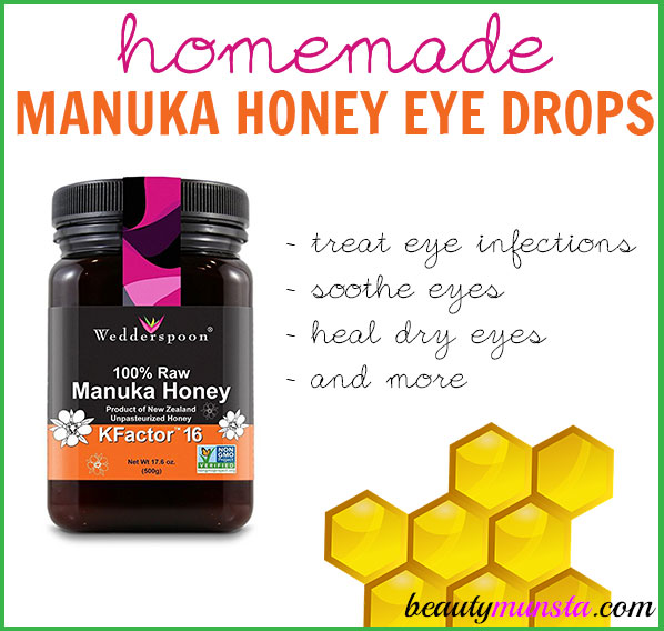 Not long ago, I shared a recipe for a DIY Eye Spray using Raw Honey. Now I want to share something even more powerful and that's DIY manuka honey eye drops!