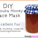 DIY Manuka Honey Face Mask for Acne, Rosacea & Hyperpigmentation