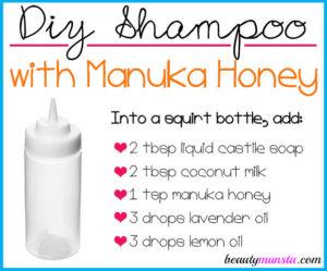 DIY Manuka Honey Shampoo