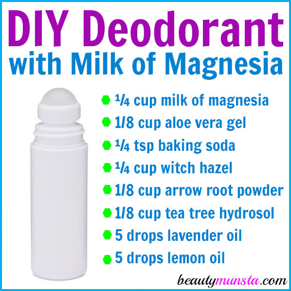 Follow this DIY milk of magnesia deodorant recipe to make a homemade deodorant that you'll be very pleased with! It works effectively and smells great!