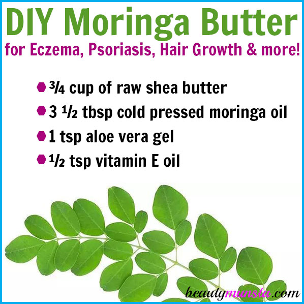 Make your own DIY moringa butter for skin & hair! Moringa is actually a very powerful antibacterial and anti-inflammatory substance. It promotes beautiful skin and great hair. Try the recipe below to benefit from moringa's amazing benefits!