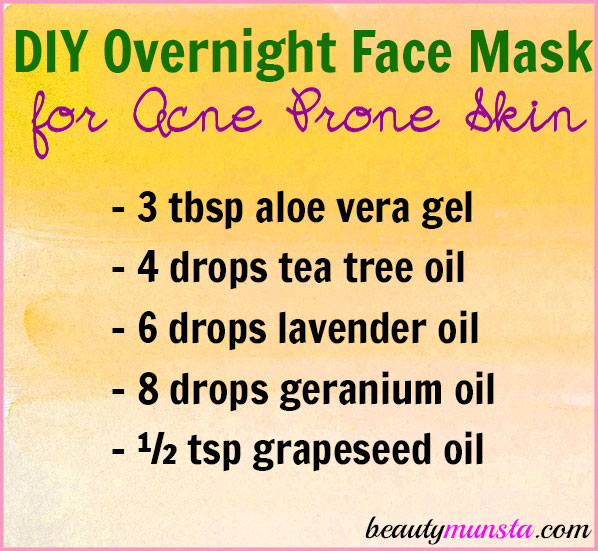 Try this DIY overnight face mask for acne prone skin to help reduce stubborn zits and freshen your face!