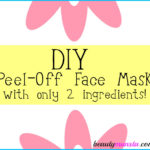 DIY Peel-Off Face Mask with Only 2 Ingredients