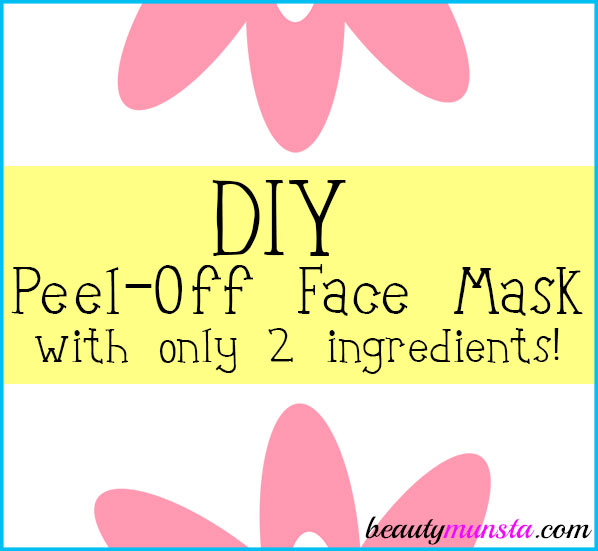 Whip up your own DIY 2-ingredient peel off face mask in less than 2 minutes ;)!