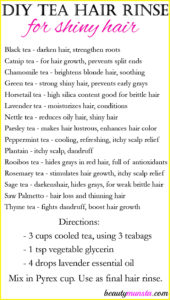 DIY Tea Hair Rinse for Shiny Hair