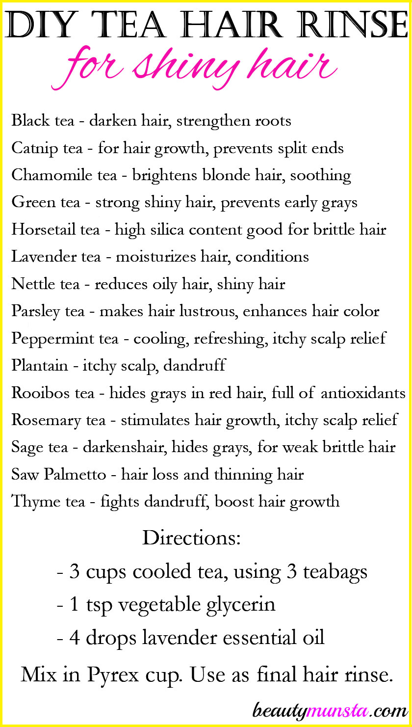 Want shiny hair? Use this simple DIY tea hair rinse that works!