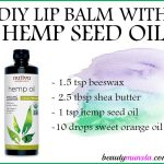 DIY Hemp Seed Oil Lip Balm Recipe