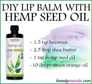 DIY Hemp Seed Oil Lip Balm Recipe